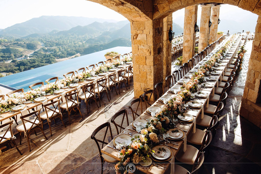 Malibu Rocky Oaks Wedding Reception Inspiration